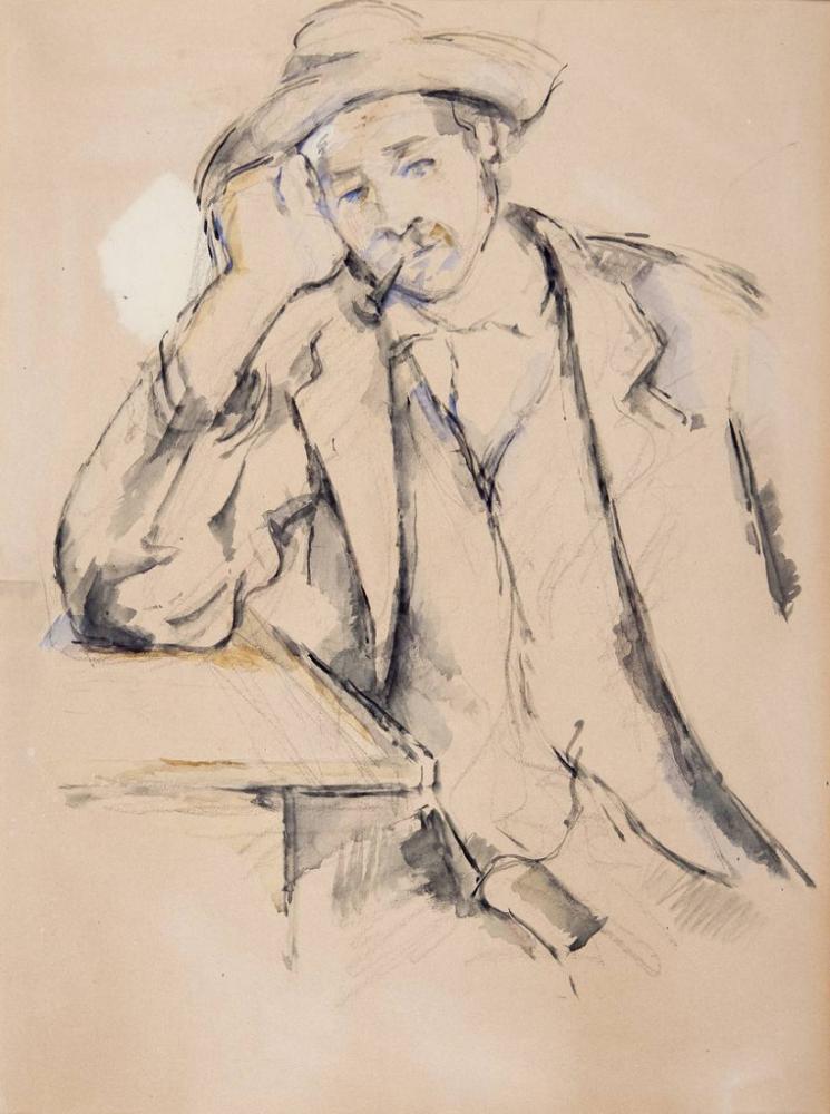 Paul Cezanne Leaning Smoker, Canvas, Paul Cezanne, kanvas tablo, canvas print sales