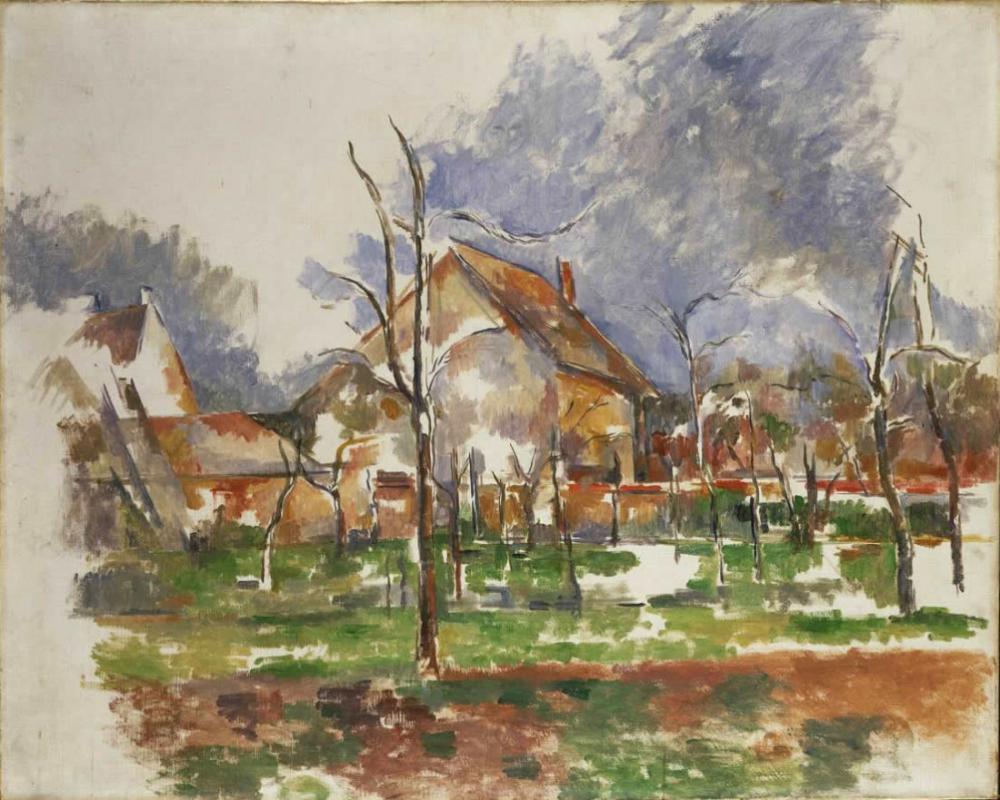 Paul Cezanne Winter Landscape,Giverny, Canvas, Paul Cezanne, kanvas tablo, canvas print sales
