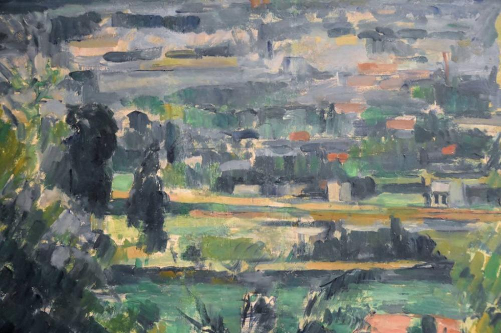Paul Cezanne Landscape near Melun, Canvas, Paul Cezanne, kanvas tablo, canvas print sales