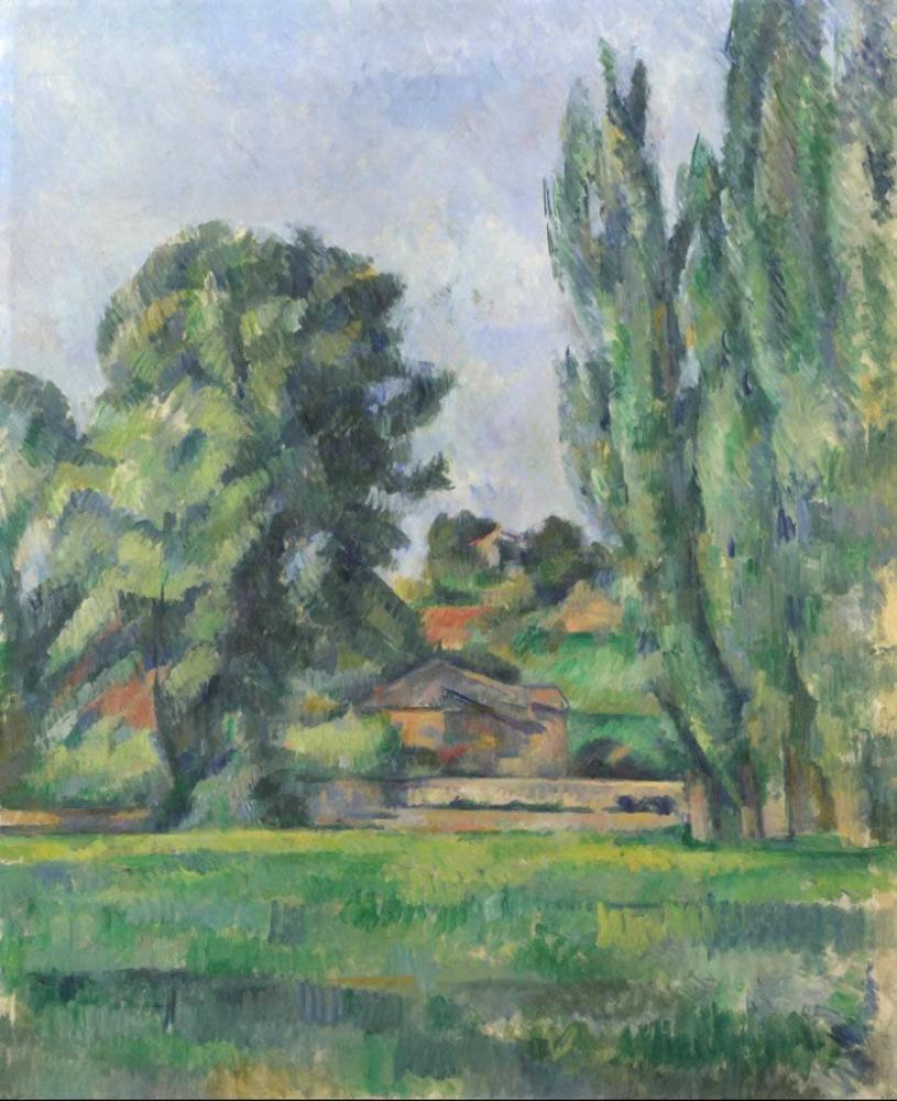 Paul Cezanne Landscape with Poplars, Canvas, Paul Cezanne, kanvas tablo, canvas print sales