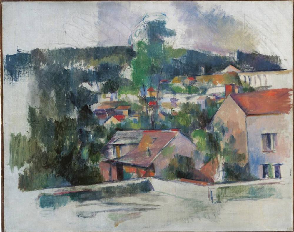 Paul Cezanne Manzara, Kanvas Tablo, Paul Cezanne, kanvas tablo, canvas print sales