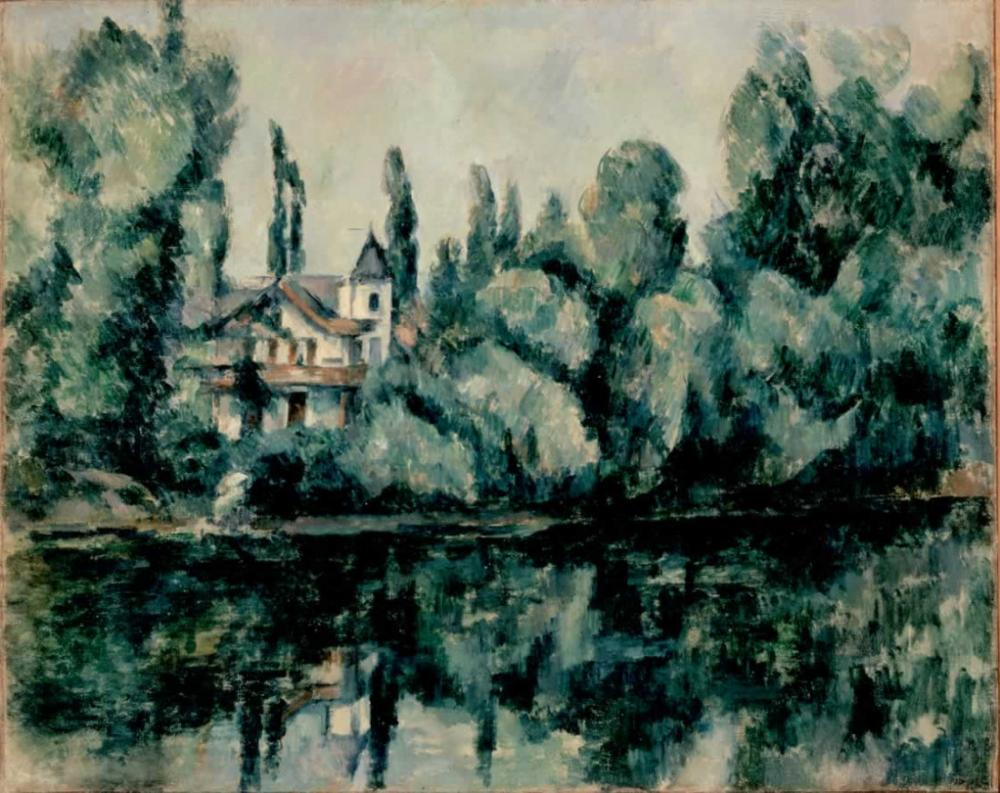 Paul Cezanne Marne Villa on the Bank of a River, Canvas, Paul Cezanne, kanvas tablo, canvas print sales