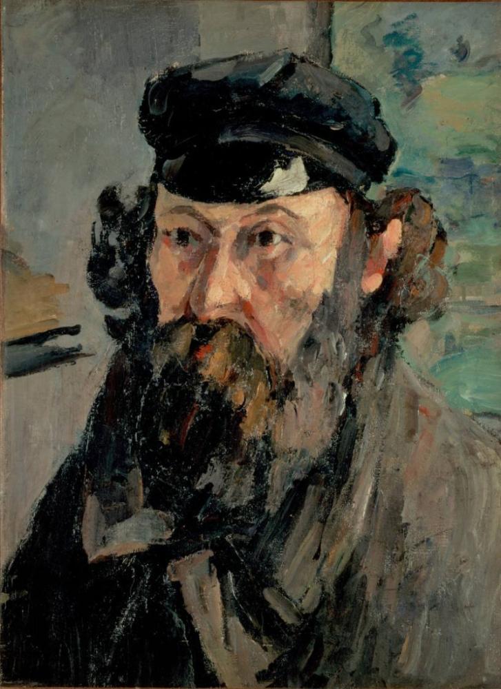 Self portrait in cap Paul Cezanne, Canvas, Paul Cezanne, kanvas tablo, canvas print sales
