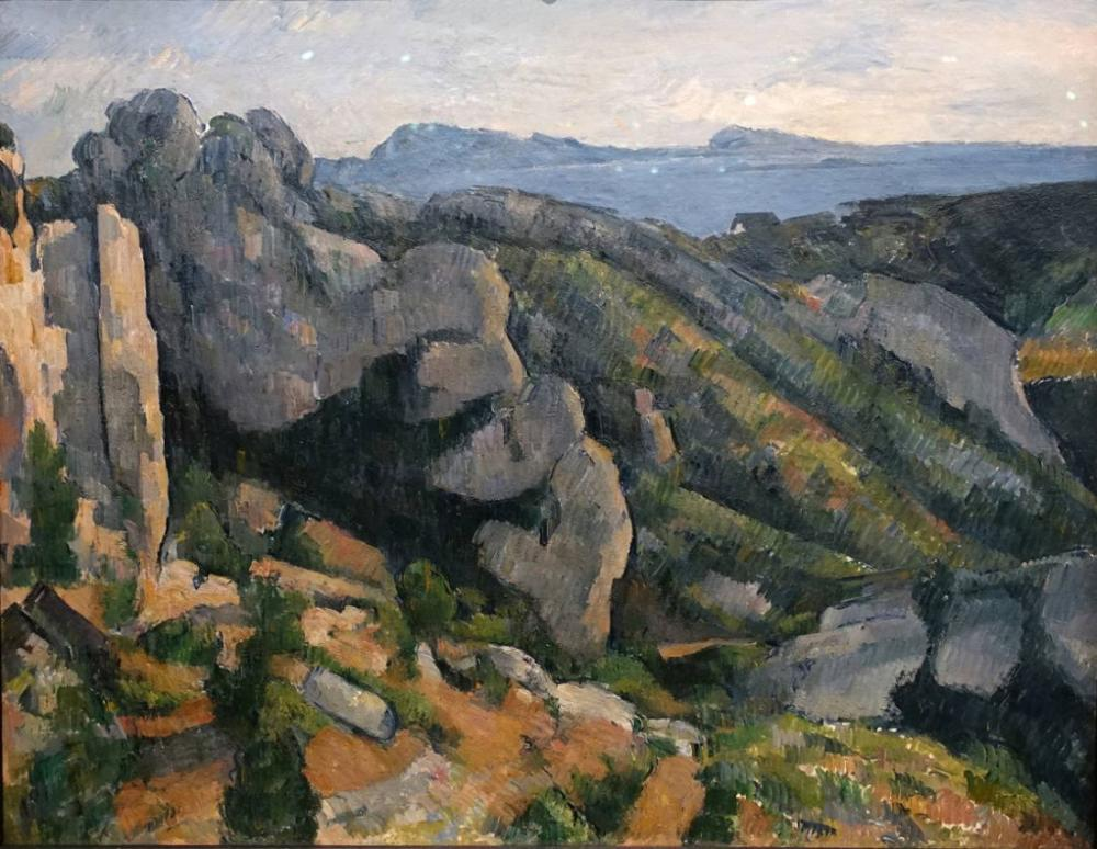 Uçurum - Paul Cezanne, Kanvas Tablo, Paul Cezanne, kanvas tablo, canvas print sales
