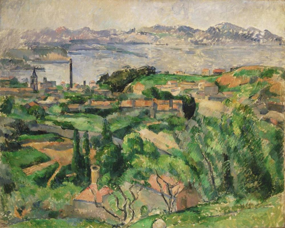 Saint Henri Köyü ile Marsilya Körfezi nin görünümü, Kanvas Tablo, Paul Cezanne, kanvas tablo, canvas print sales