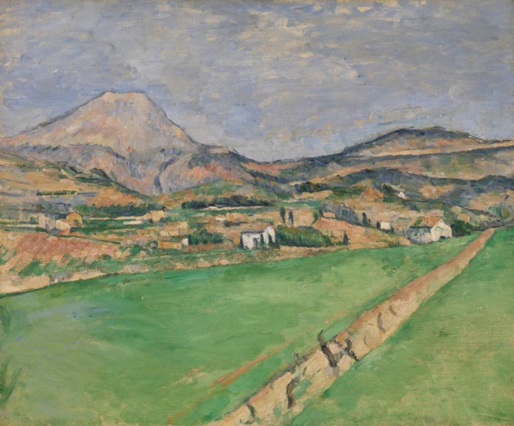 Mont Sainte Victoire a doğru - Cezanne, Kanvas Tablo, Paul Cezanne, kanvas tablo, canvas print sales