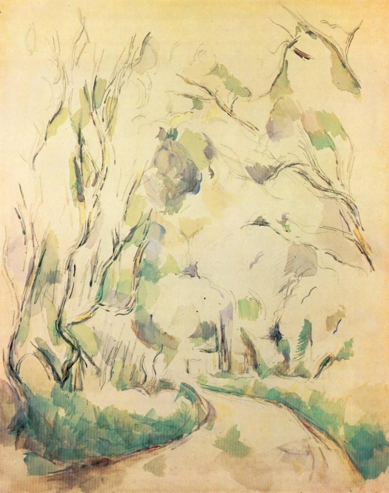Chateau Noir Park Yolu - Cezanne, Kanvas Tablo, Paul Cezanne, kanvas tablo, canvas print sales
