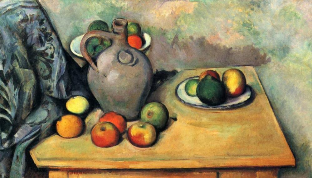 Sürahi ve meyveli Natürmort, Kanvas Tablo, Paul Cezanne, kanvas tablo, canvas print sales