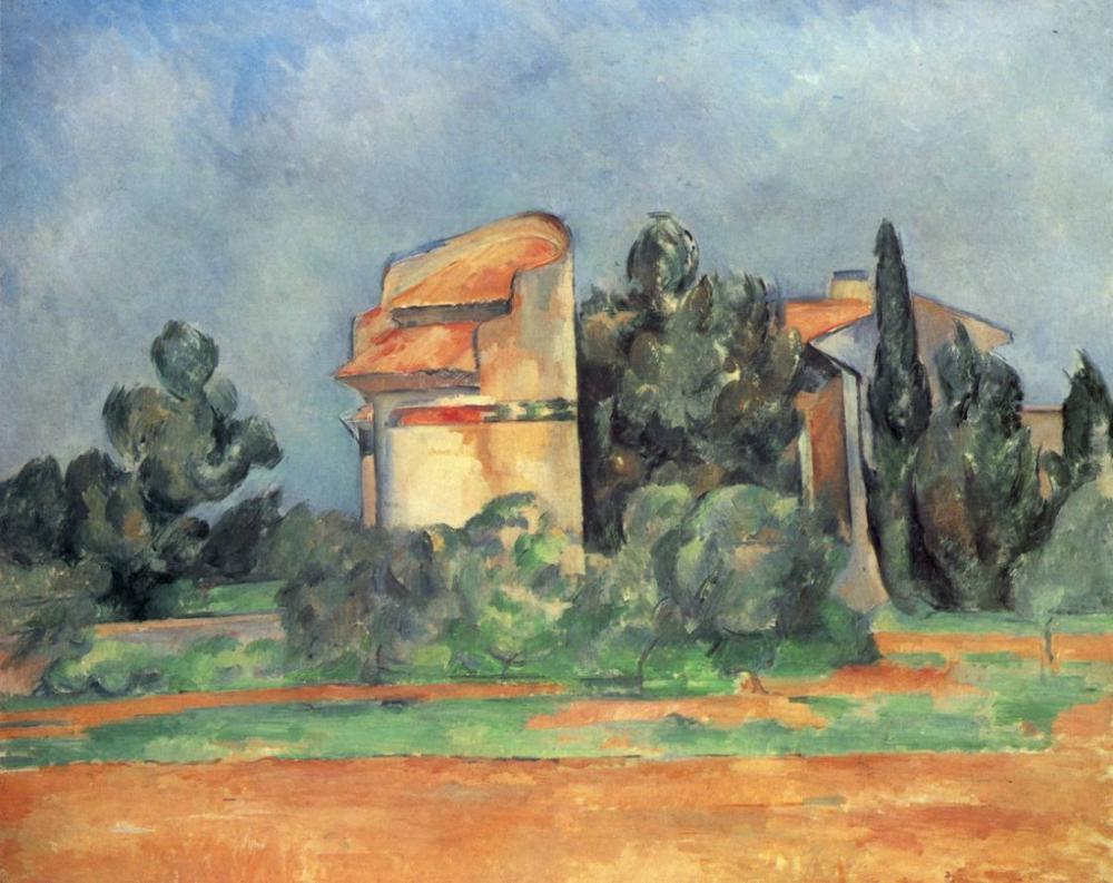 Bellevue daki güvercinlik- Paul Cezanne, Kanvas Tablo, Paul Cezanne, kanvas tablo, canvas print sales