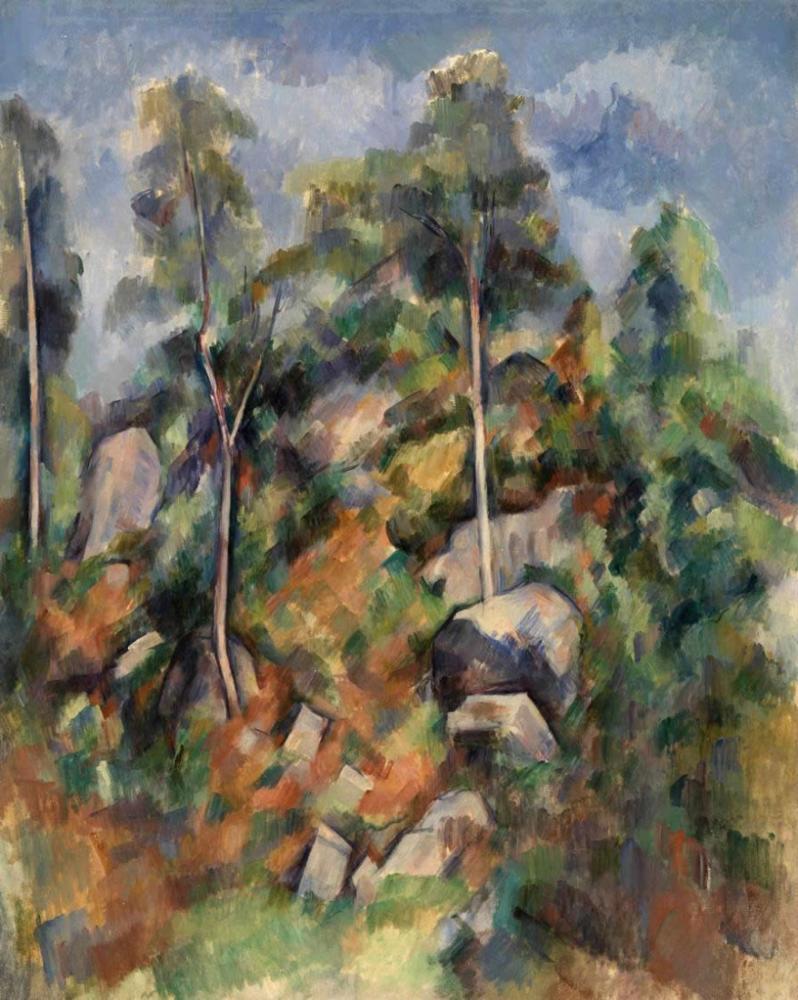 Rocks and Trees - Paul Cezanne, Canvas, Paul Cezanne, kanvas tablo, canvas print sales
