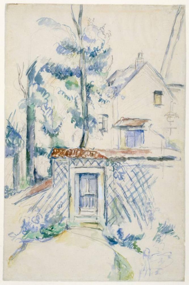 Garden Entrance - Paul Cezanne, Canvas, Paul Cezanne, kanvas tablo, canvas print sales