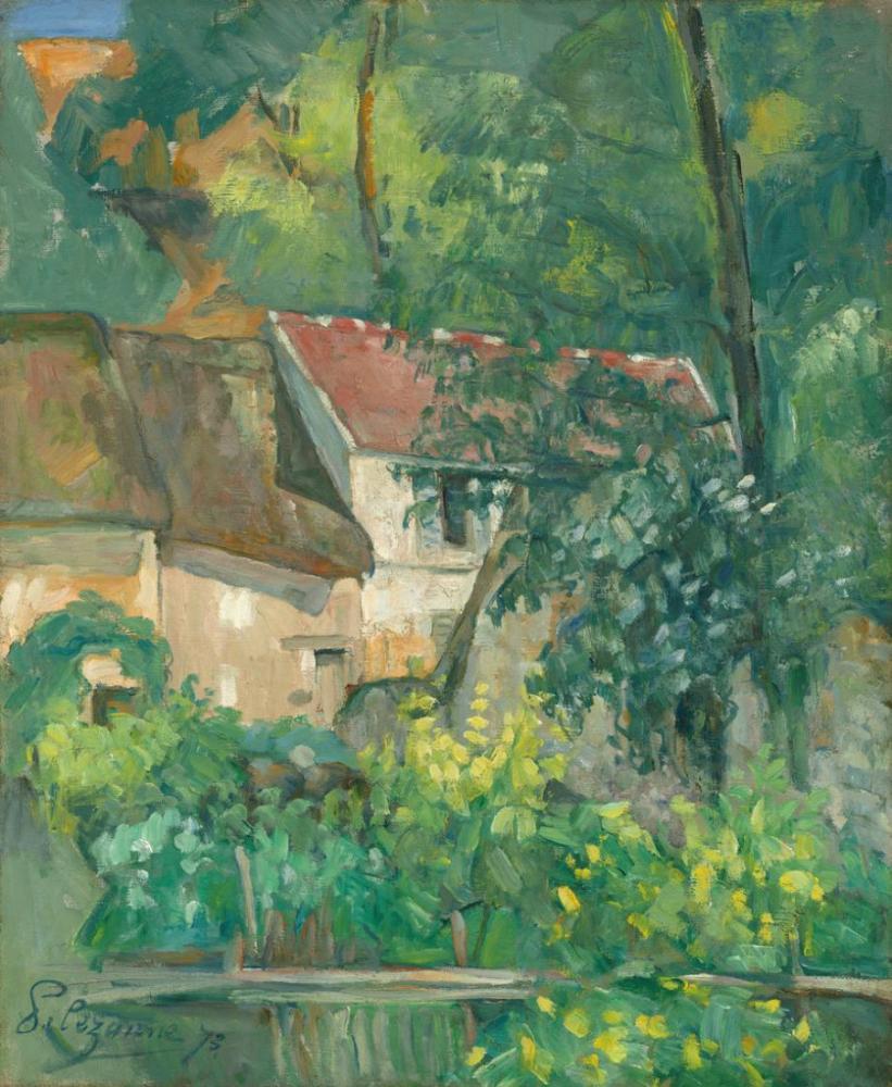 Paul Cezanne House of Father Lacroix, Canvas, Paul Cezanne, kanvas tablo, canvas print sales