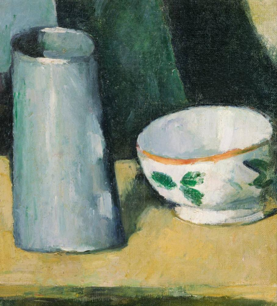 Bowl and Milk Jug- Paul Cezanne, Canvas, Paul Cezanne, kanvas tablo, canvas print sales
