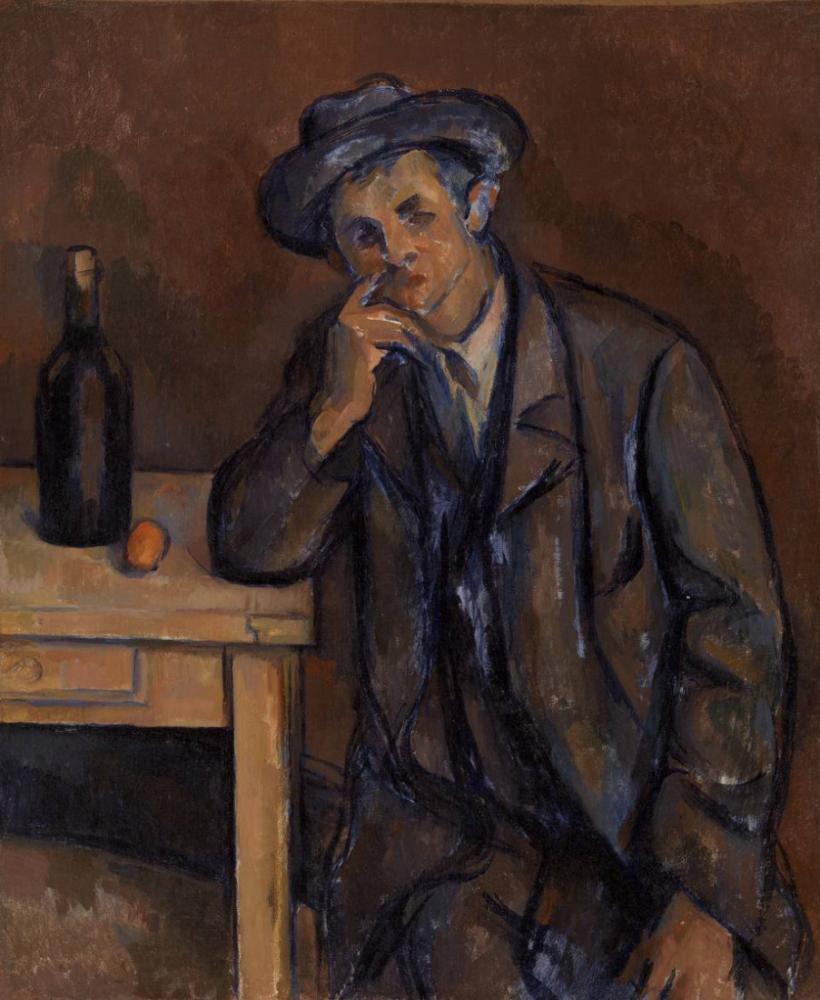 The Drinker Paul Cezanne, Kanvas Tablo, Paul Cezanne, kanvas tablo, canvas print sales