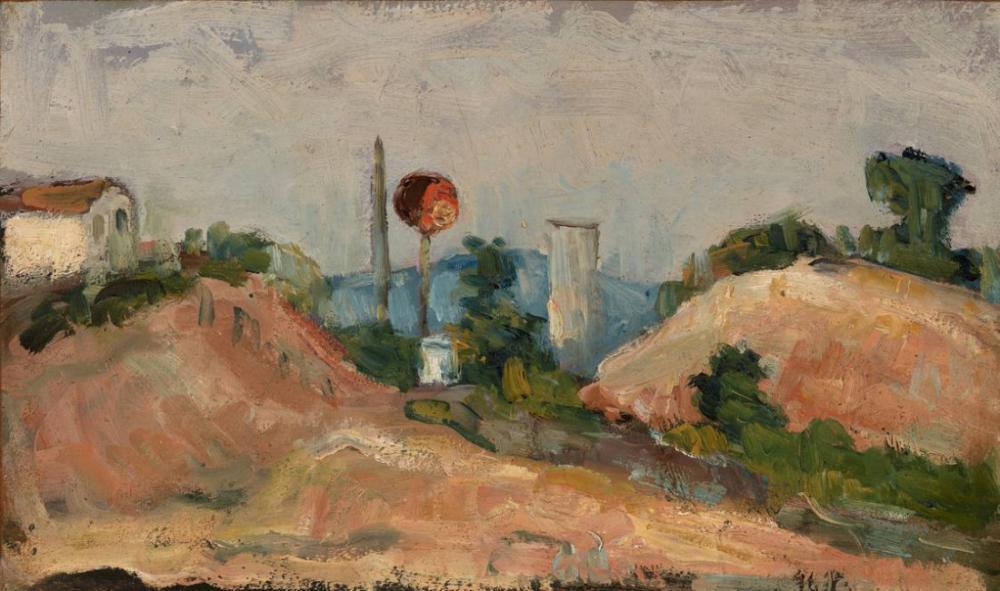 Railroad Cut Paul Cezanne, Kanvas Tablo, Paul Cezanne, kanvas tablo, canvas print sales