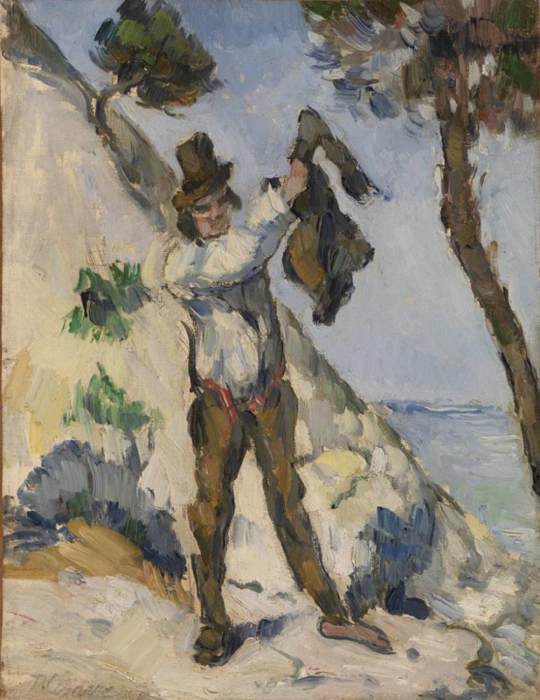Yelekli Adam -Paul Cezanne, Kanvas Tablo, Paul Cezanne, kanvas tablo, canvas print sales