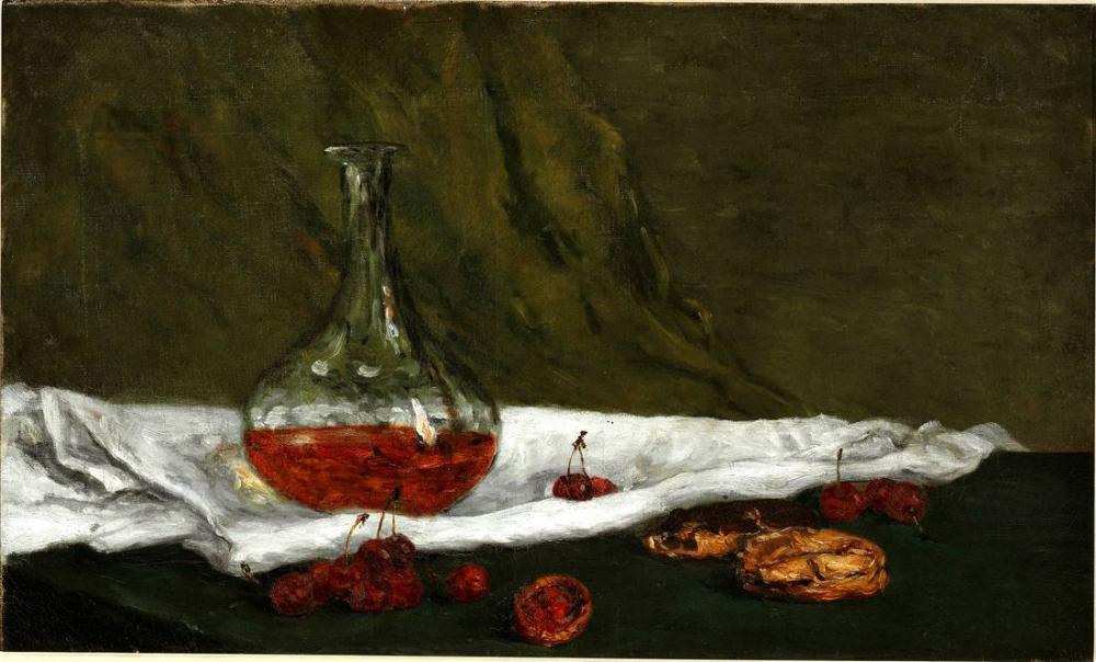 Cherries and carafon - Paul Gauguin, Canvas, Paul Gauguin, kanvas tablo, canvas print sales