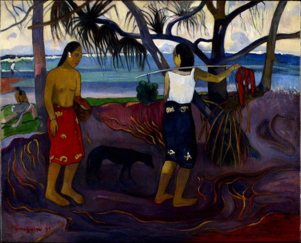 Under Step II- Paul Gauguin, Canvas, Paul Gauguin, kanvas tablo, canvas print sales