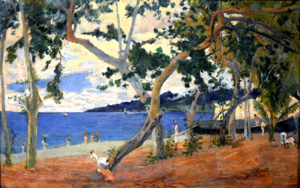 Martinique kıyılarından manzara- Paul Gauguin, Kanvas Tablo, Paul Gauguin, kanvas tablo, canvas print sales