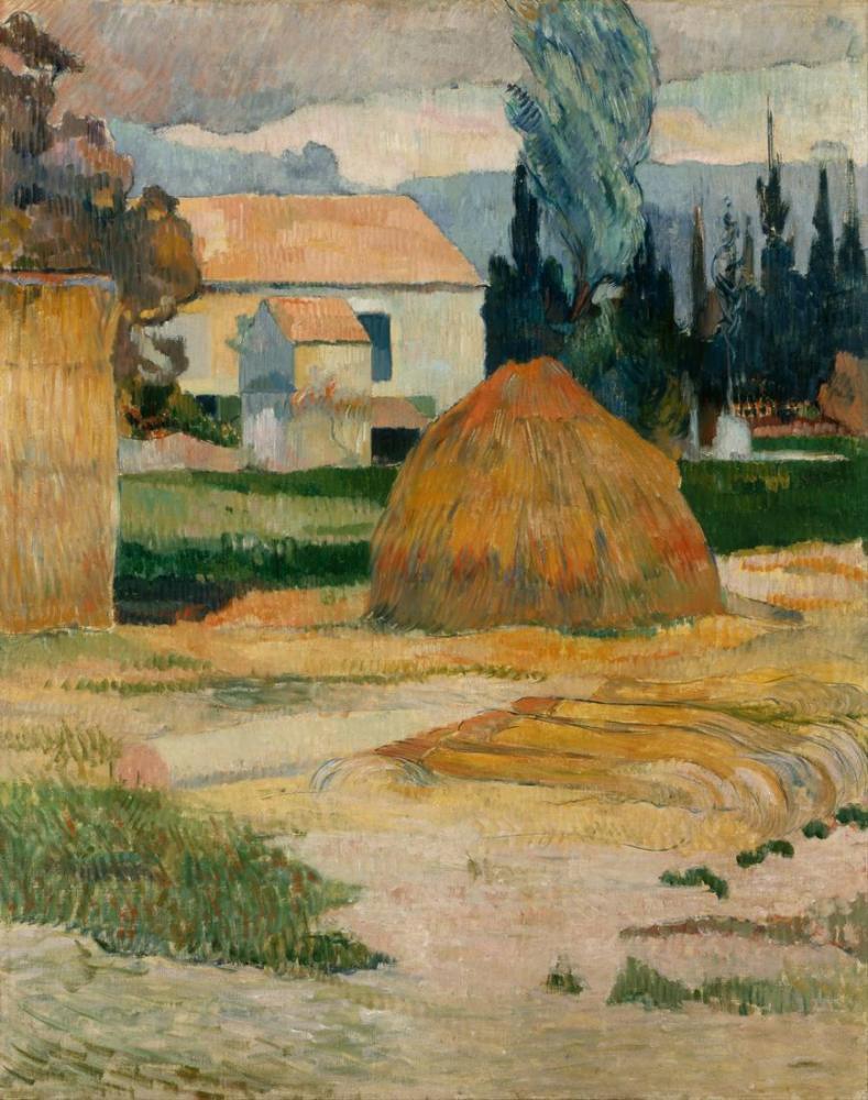 Arles yakınında manzara- Paul Gauguin, Kanvas Tablo, Paul Gauguin, kanvas tablo, canvas print sales
