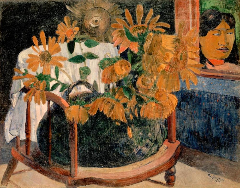 Ayçiçekleri- Paul Gauguin, Kanvas Tablo, Paul Gauguin, kanvas tablo, canvas print sales
