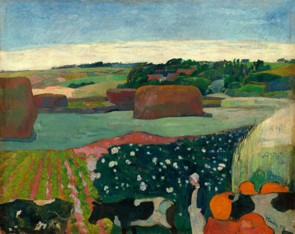 Haystack in Brittany- Paul Gauguin, Canvas, Paul Gauguin, kanvas tablo, canvas print sales