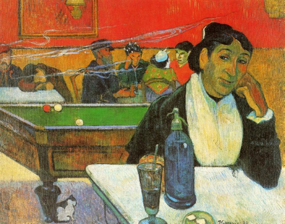Paul Gauguin Arles teki Gece Kulübü, Kanvas Tablo, Paul Gauguin, kanvas tablo, canvas print sales