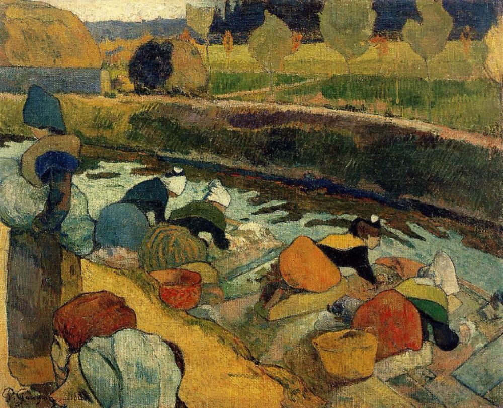 Paul Gauguin Çamaşırcı Kadınlar, Kanvas Tablo, Paul Gauguin, kanvas tablo, canvas print sales