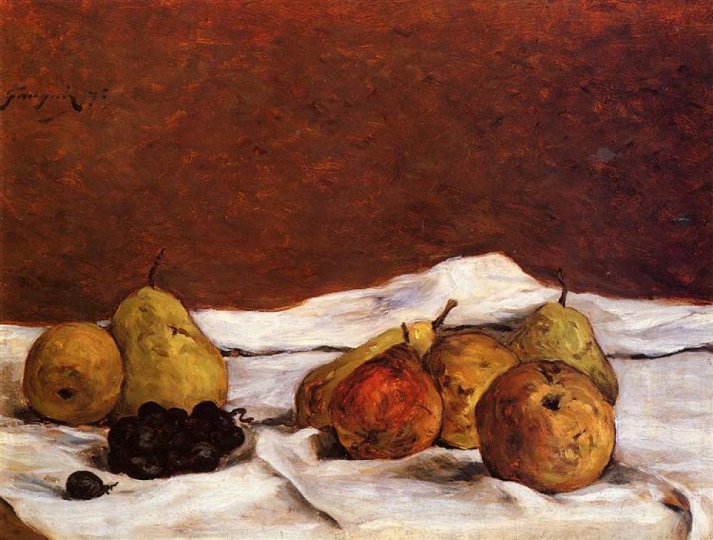 Paul Gauguin Pears And Grapes, Canvas, Paul Gauguin, kanvas tablo, canvas print sales