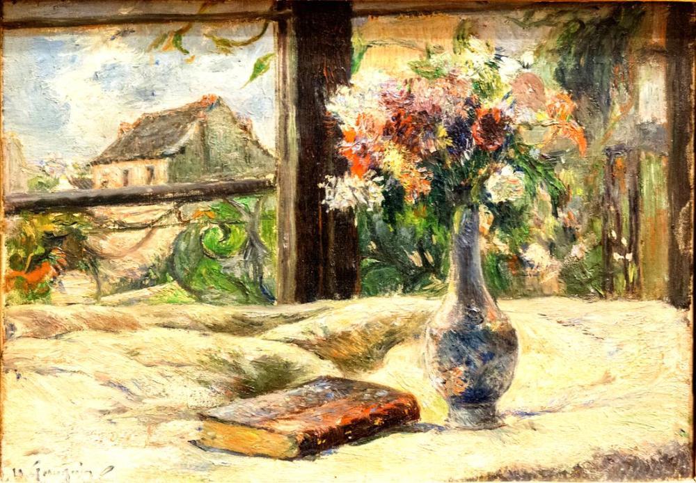 Vazoda Çiçekler- Paul Gauguin, Kanvas Tablo, Paul Gauguin, kanvas tablo, canvas print sales