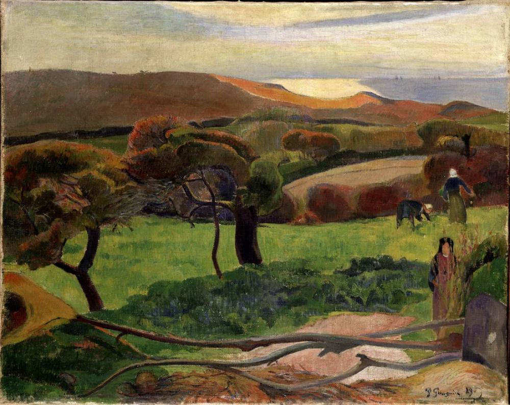 Landscape from Britain- Paul Gauguin, Canvas, Paul Gauguin, kanvas tablo, canvas print sales