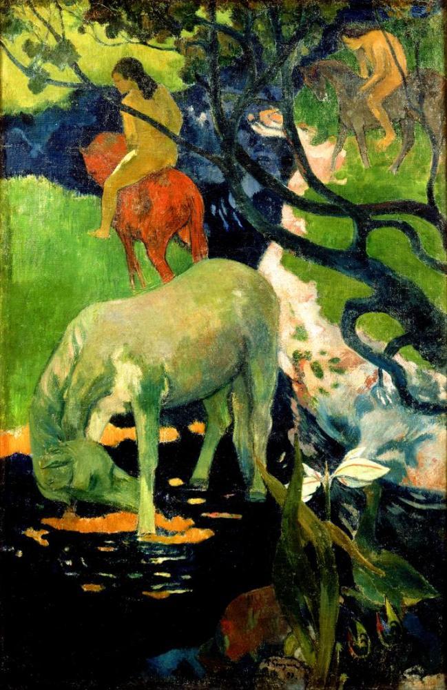 The White Horse - Paul Gauguin, Canvas, Paul Gauguin, kanvas tablo, canvas print sales