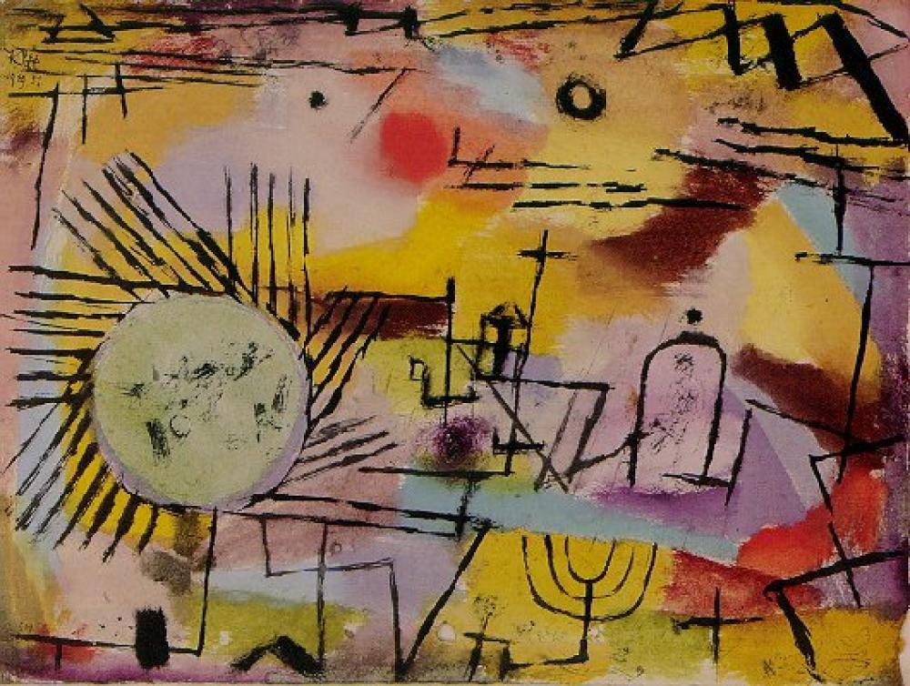 Paul Klee Rising Sun Oil Painting, Canvas, Paul Klee, kanvas tablo, canvas print sales