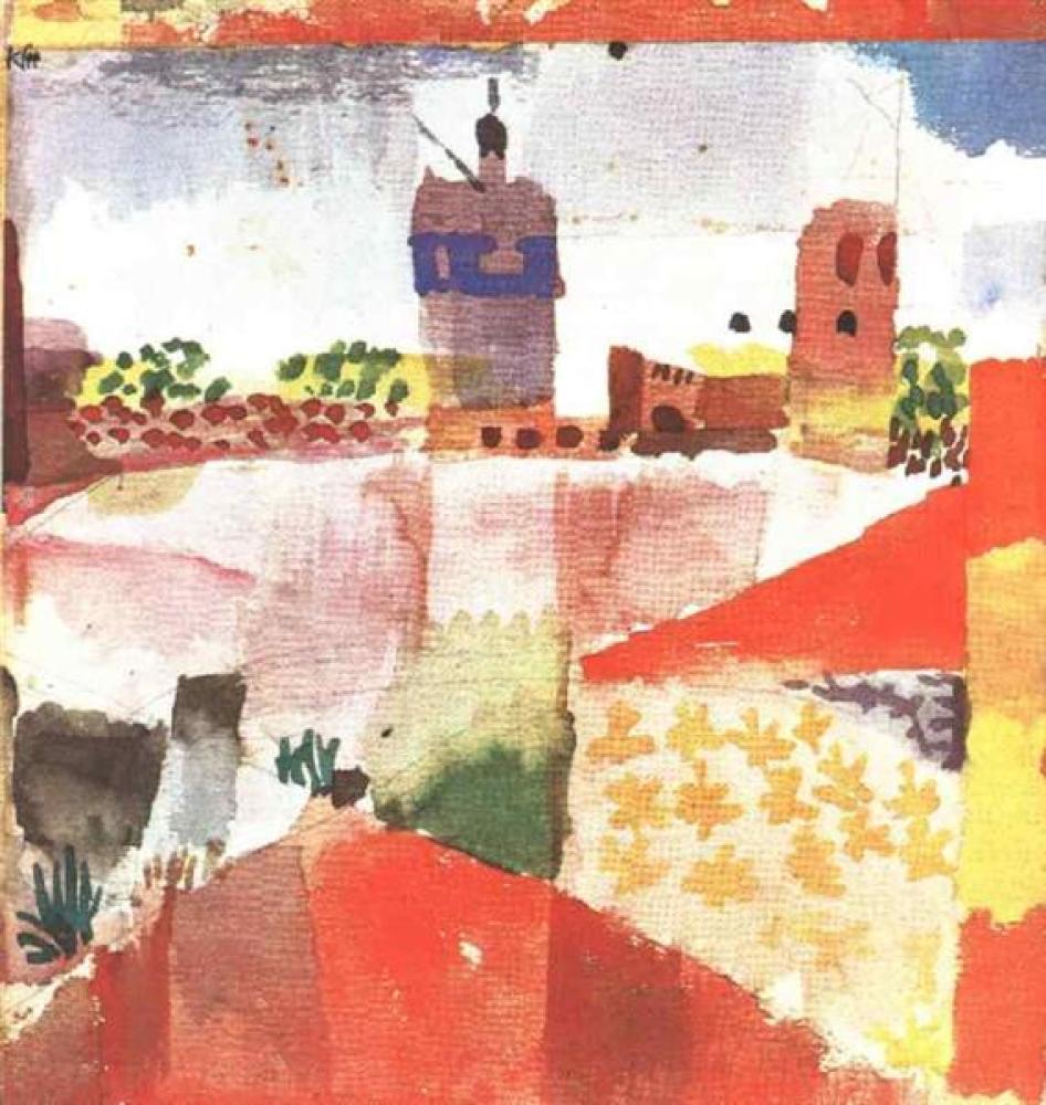 Paul Klee Hammamet With Mosque, Canvas, Paul Klee, kanvas tablo, canvas print sales