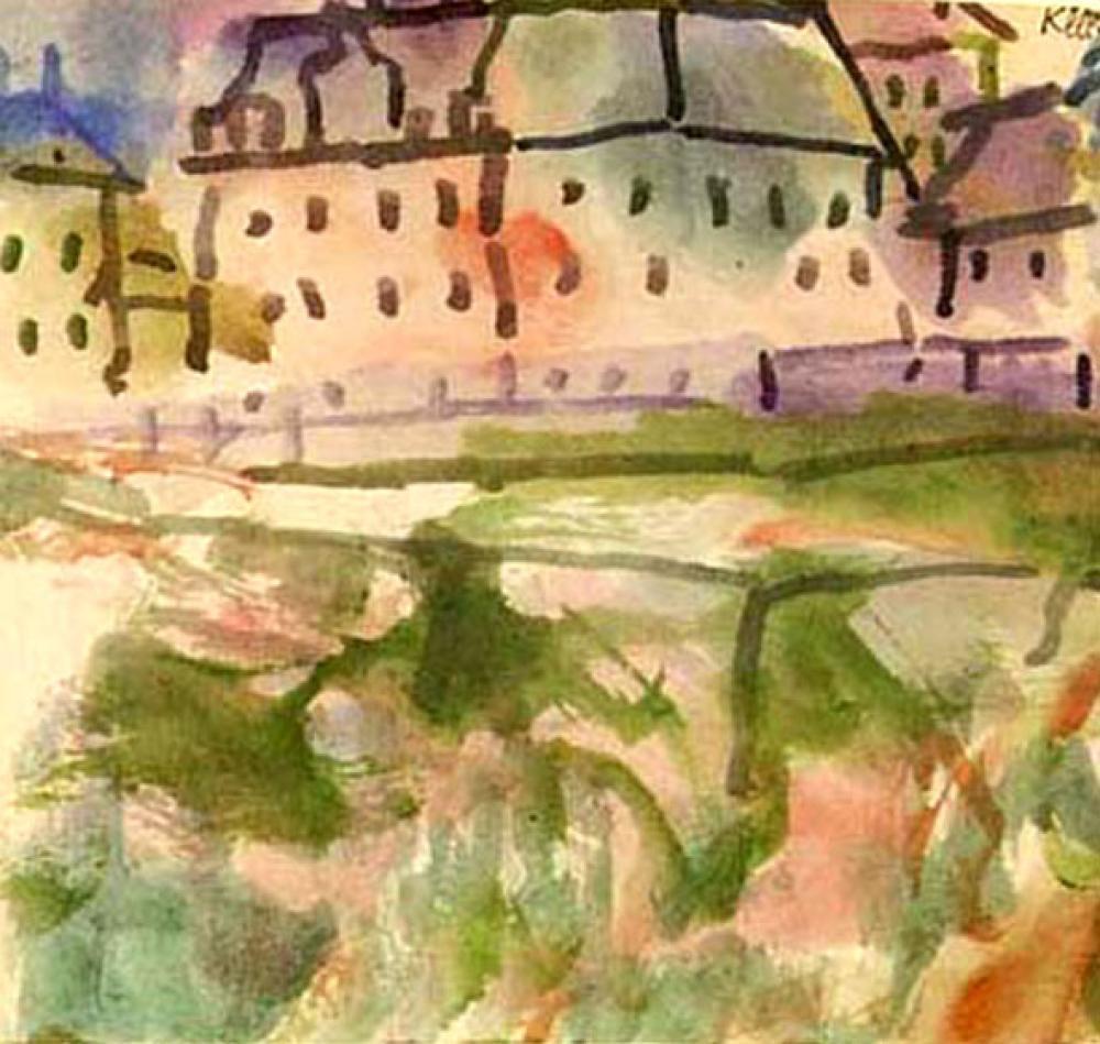 Paul Klee  Kum Havuzunun Yakınındaki Evler, Kanvas Tablo, Paul Klee, kanvas tablo, canvas print sales