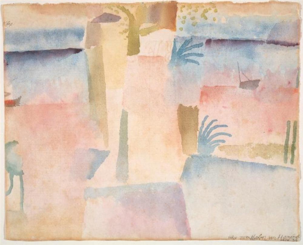 Paul Klee View Towards The Port Of Hammamet, Canvas, Paul Klee, kanvas tablo, canvas print sales