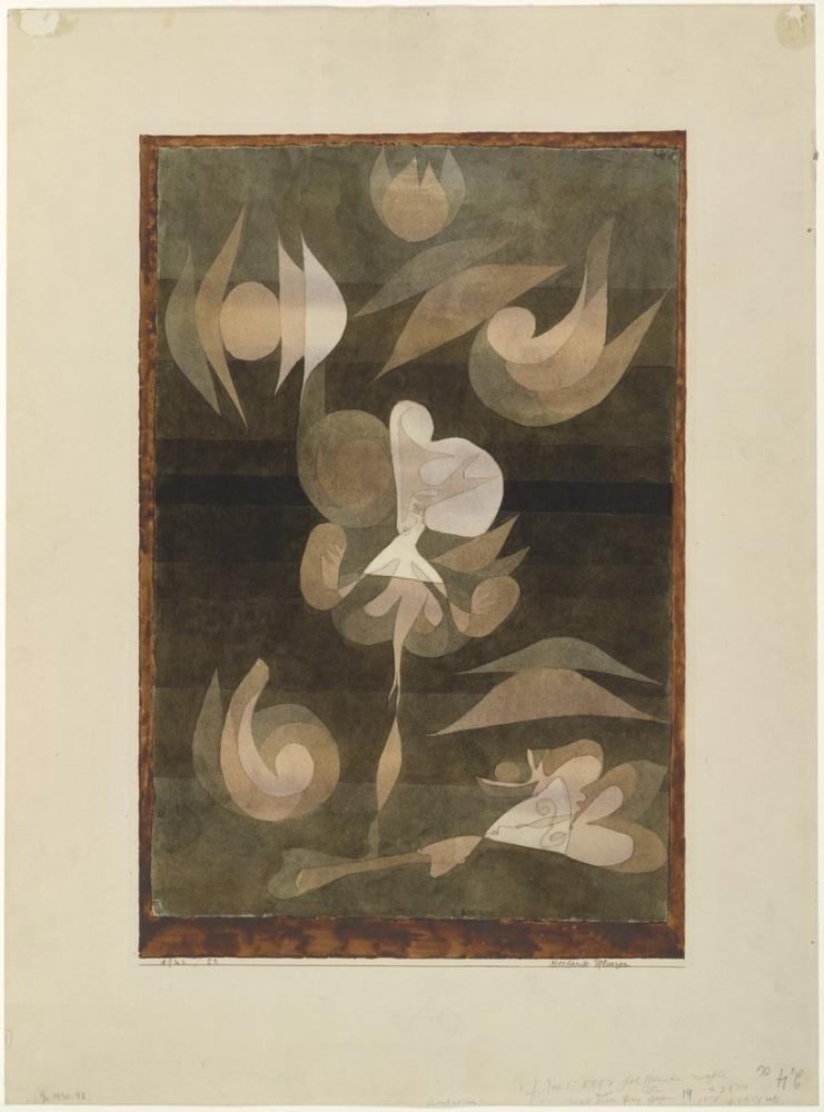 Paul Klee Ölen Bitkiler, Kanvas Tablo, Paul Klee