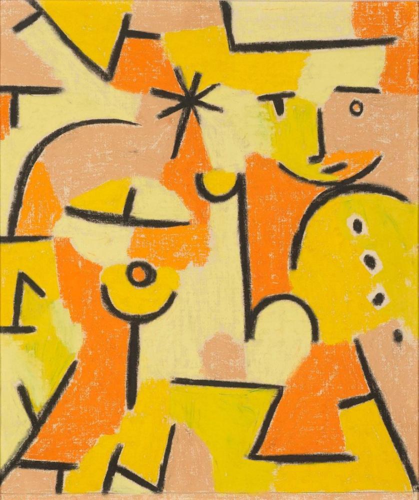Paul Klee Figure In Yellow, Canvas, Paul Klee, kanvas tablo, canvas print sales