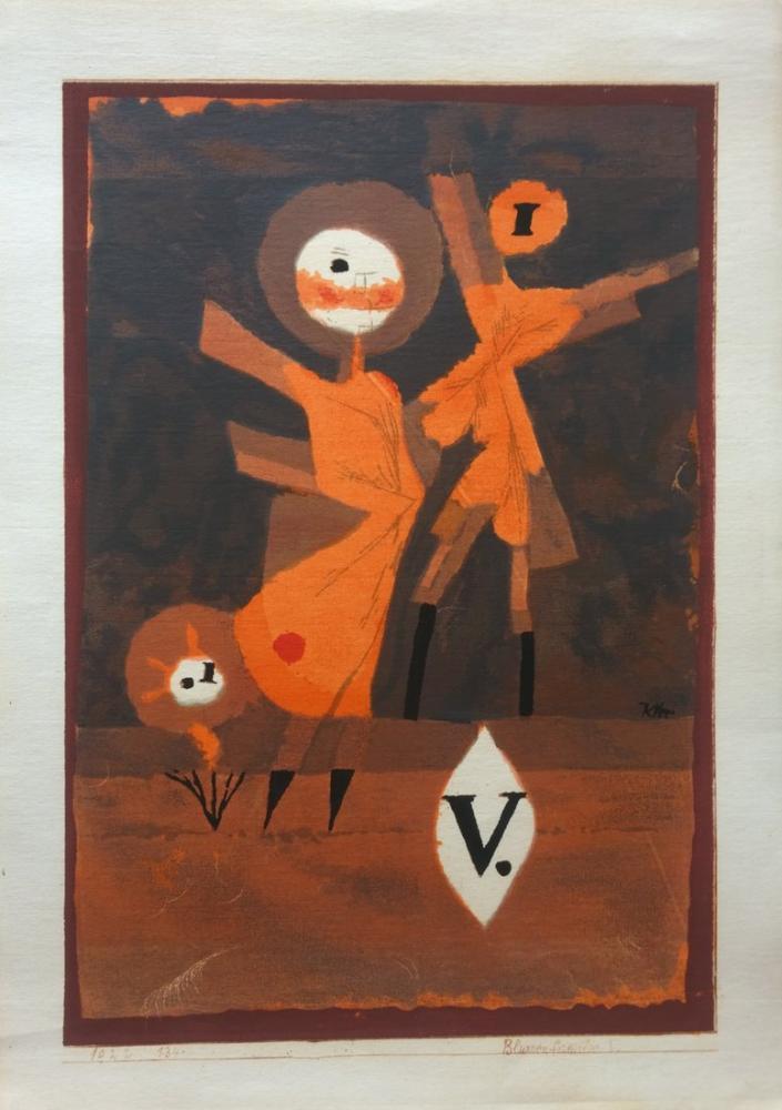 Paul Klee Flower Family V, Figure, Paul Klee, kanvas tablo, canvas print sales