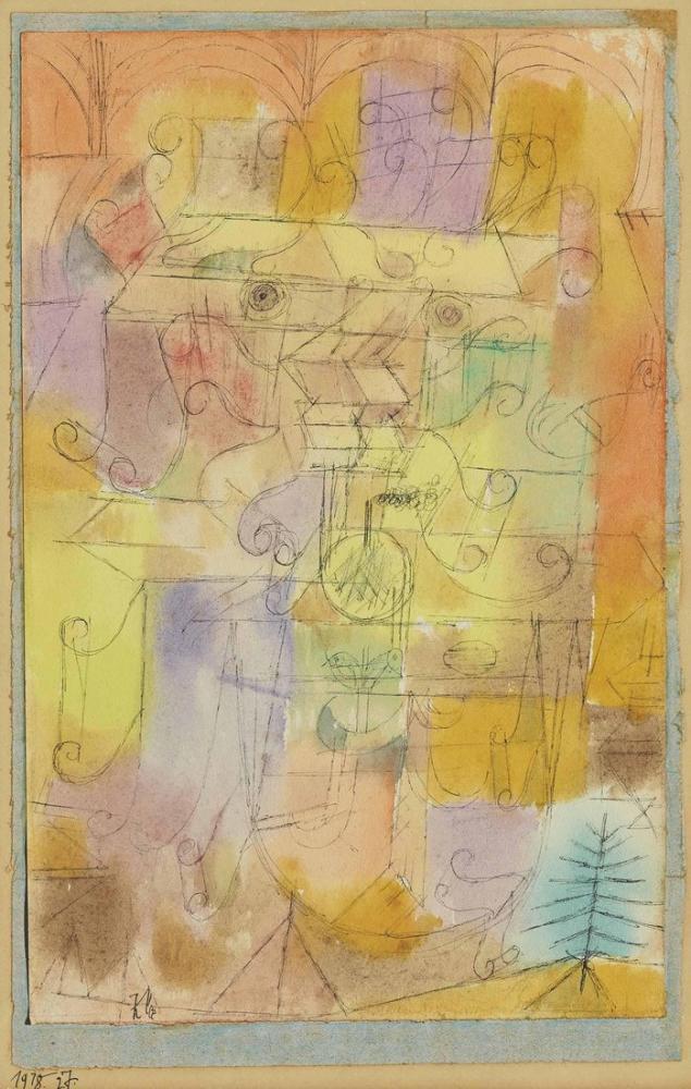 Paul Klee Flowers In The Vase, Canvas, Paul Klee, kanvas tablo, canvas print sales