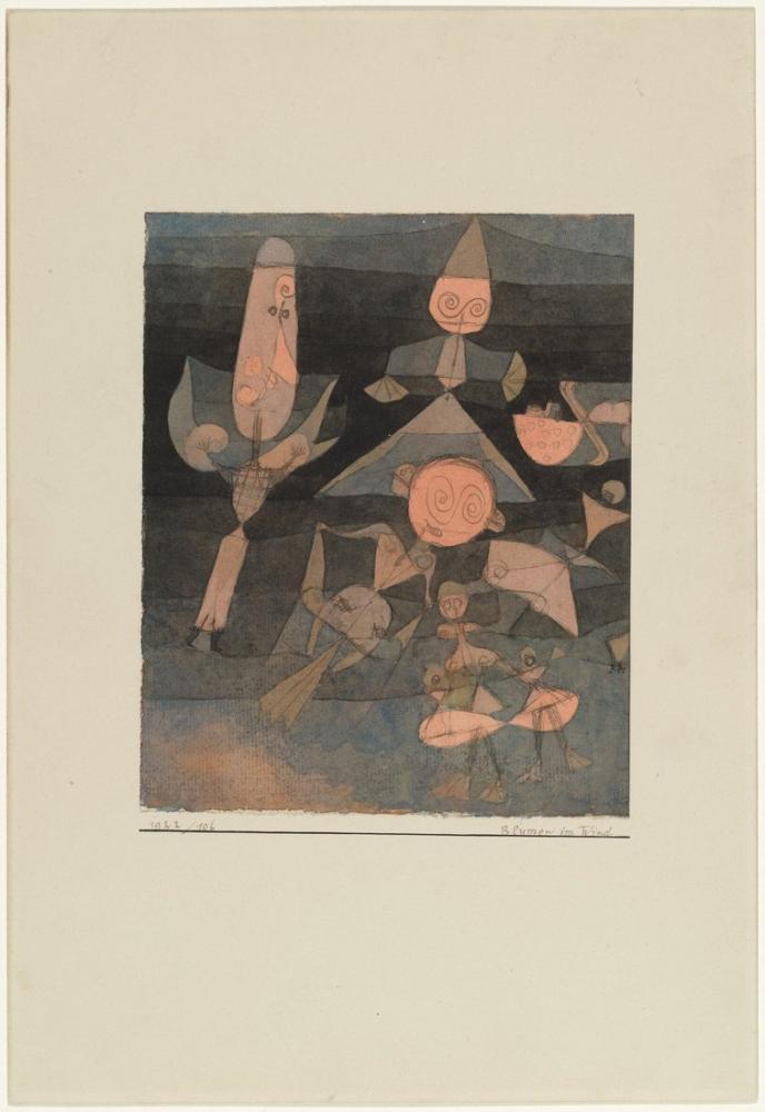 Paul Klee Flowers In The Wind, Figure, Paul Klee, kanvas tablo, canvas print sales