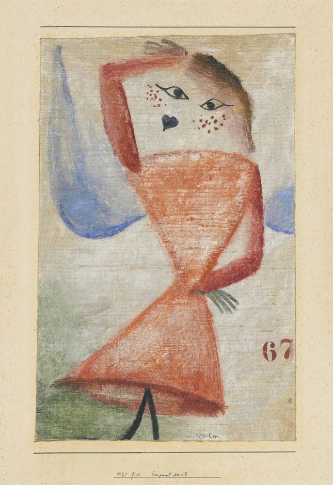 Paul Klee Parça No67, Figür, Paul Klee, kanvas tablo, canvas print sales