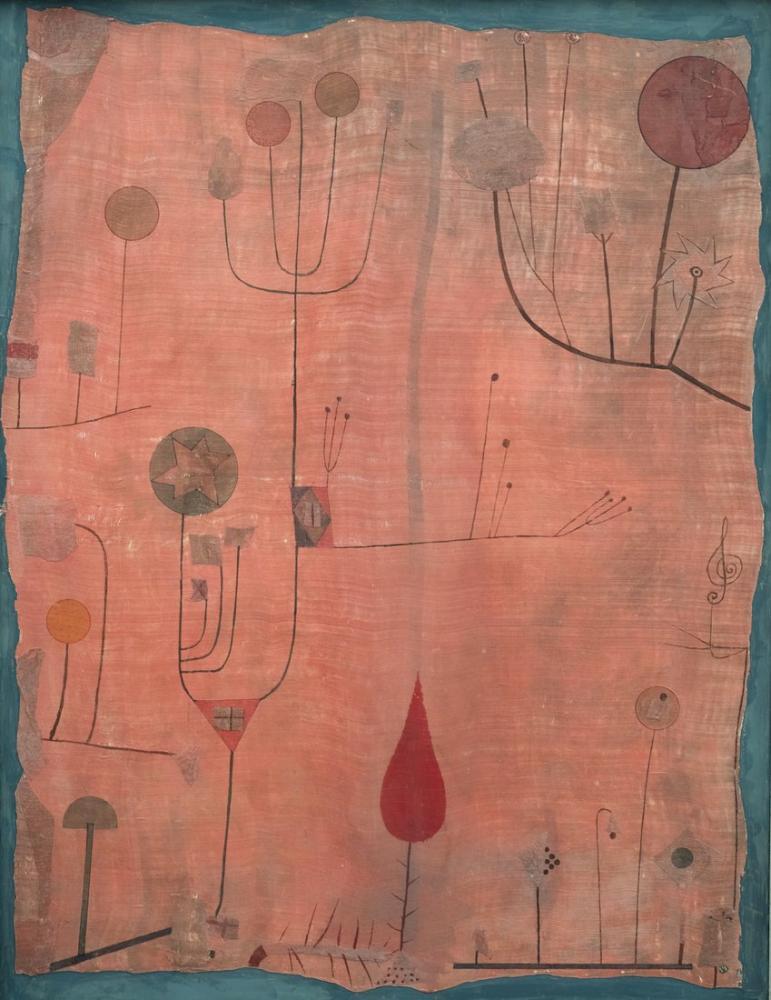 Paul Klee Fruits On Red, Canvas, Paul Klee, kanvas tablo, canvas print sales