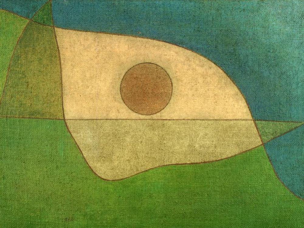 Paul Klee Akşamları Ateş, Kanvas Tablo, Paul Klee, PK141