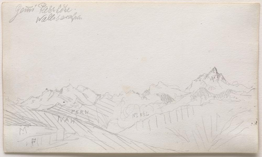 Paul Klee Gemmi Pass Valais Alps, Canvas, Paul Klee, kanvas tablo, canvas print sales