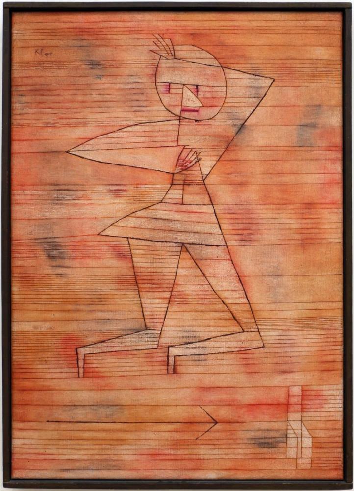 Paul Klee Hayalet Kaçıyor, Figür, Paul Klee, kanvas tablo, canvas print sales