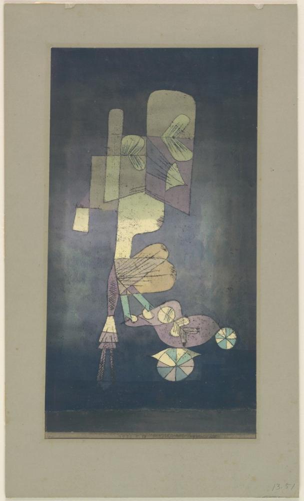 Bebek Arabası İle Kız, Figür, Paul Klee, kanvas tablo, canvas print sales