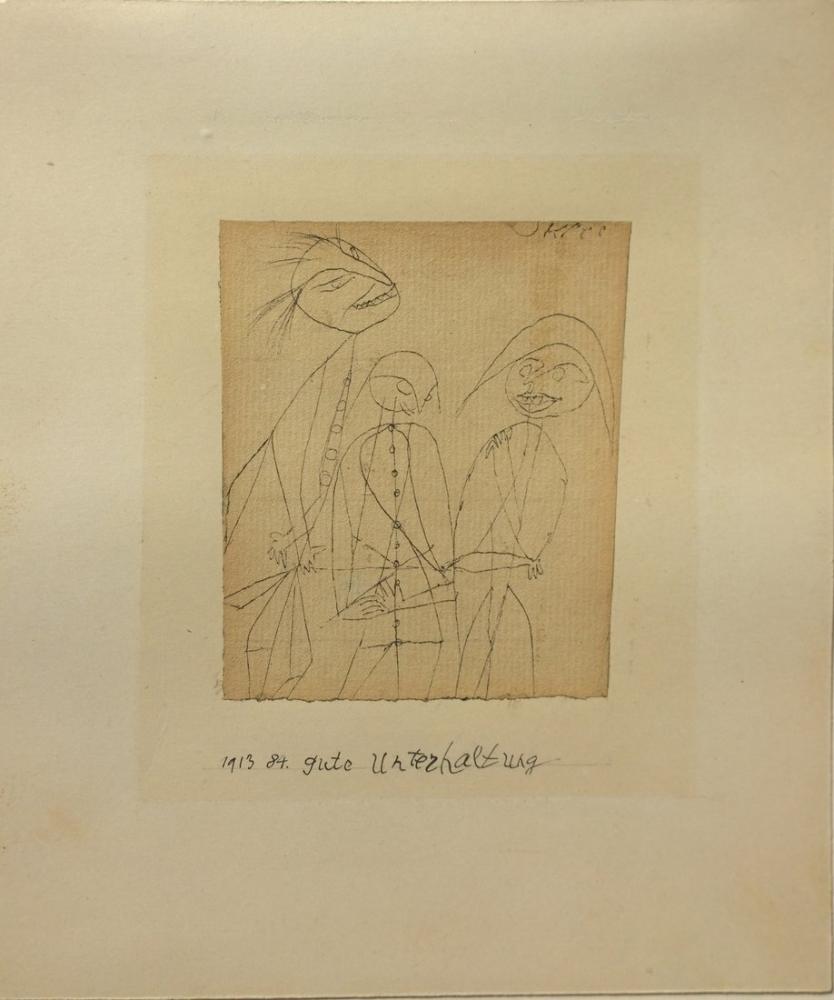 Paul Klee Good Conversation, Figure, Paul Klee, kanvas tablo, canvas print sales