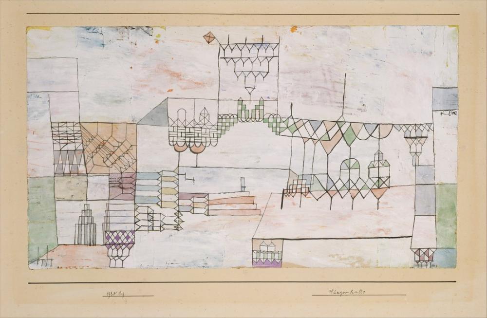 Paul Klee Great Hall For Singers, Canvas, Paul Klee, kanvas tablo, canvas print sales