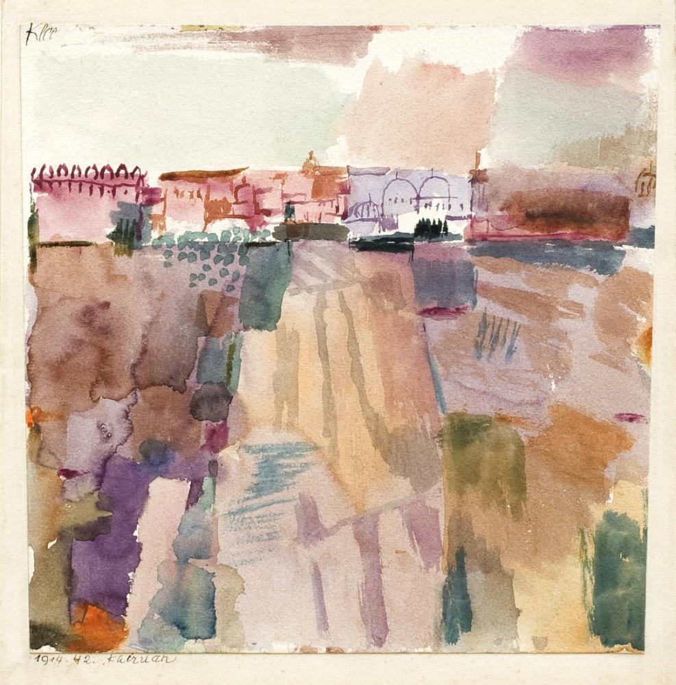 Paul Klee Hammamet, Kanvas Tablo, Paul Klee, kanvas tablo, canvas print sales